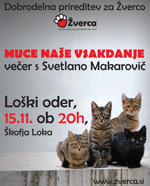 Predstava Svetlane Makarovič za brezdomne živali