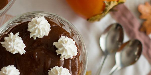 Kakijev čokoladni puding